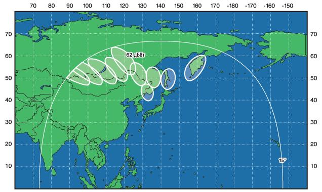 Зоны покрытия экспресс-ам6 (53 вд